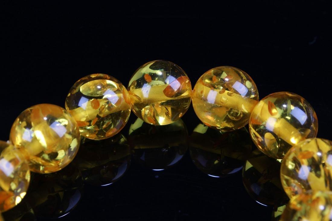 A Chinese Display-amber Estate Bracelet Display - 3