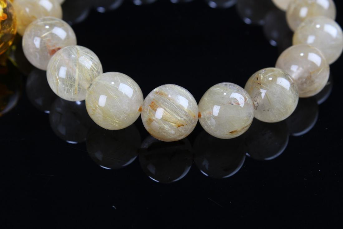 A Chinese Display-amber Estate Bracelet Display - 4
