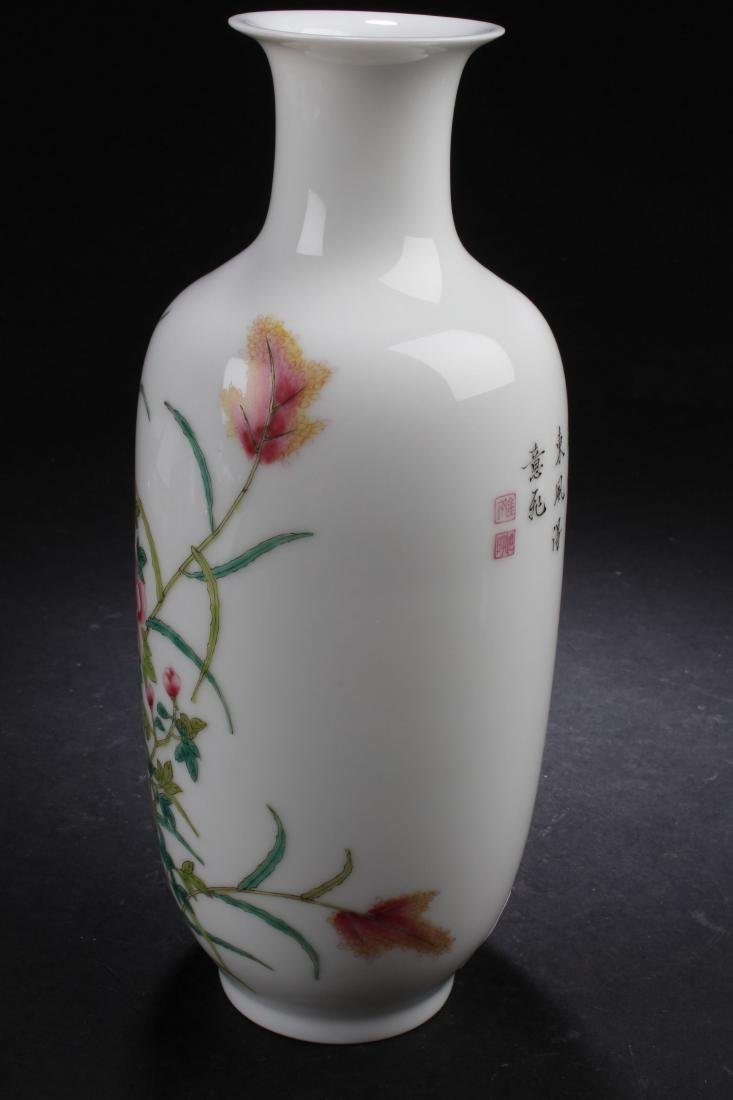 A Chinese Nature-sceen Porcelain Vase Display - 4