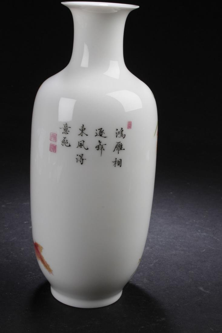 A Chinese Nature-sceen Porcelain Vase Display - 5