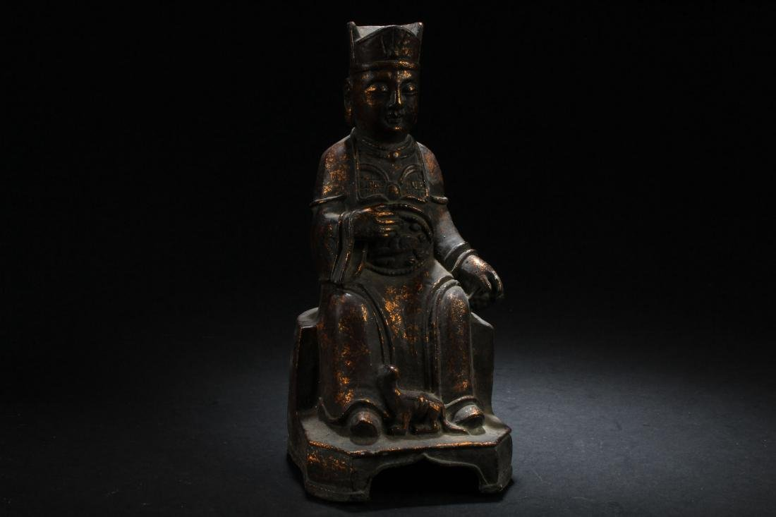 A Chinese Governor-portrait Estate Statue Display