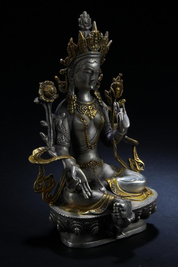 A n Estate Peaceful-posing Chinese Buddha Statue - 2