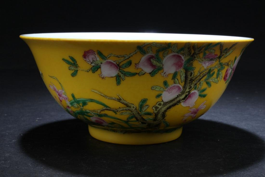 An Estate Chinese Fortune Nature-sceen Porcelain Bowl