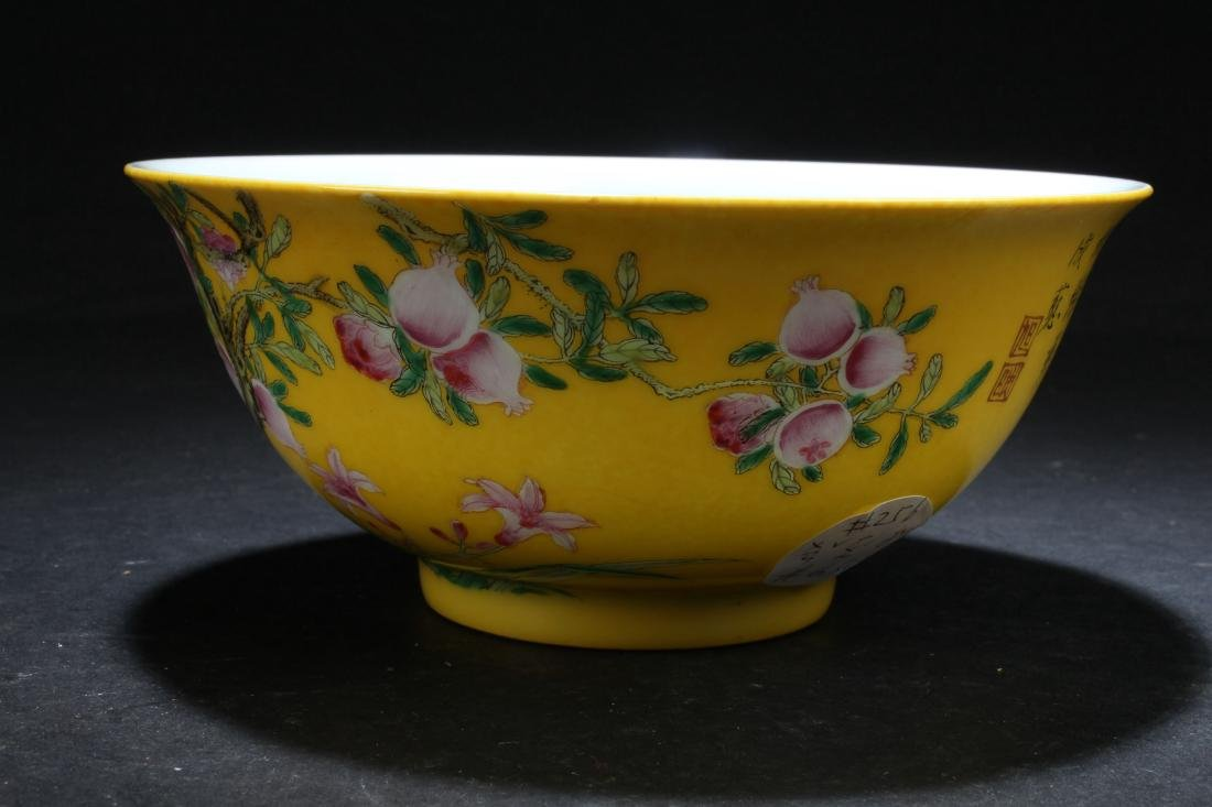 An Estate Chinese Fortune Nature-sceen Porcelain Bowl - 2