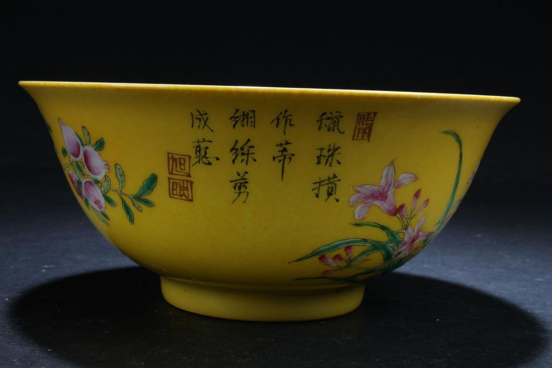 An Estate Chinese Fortune Nature-sceen Porcelain Bowl - 3
