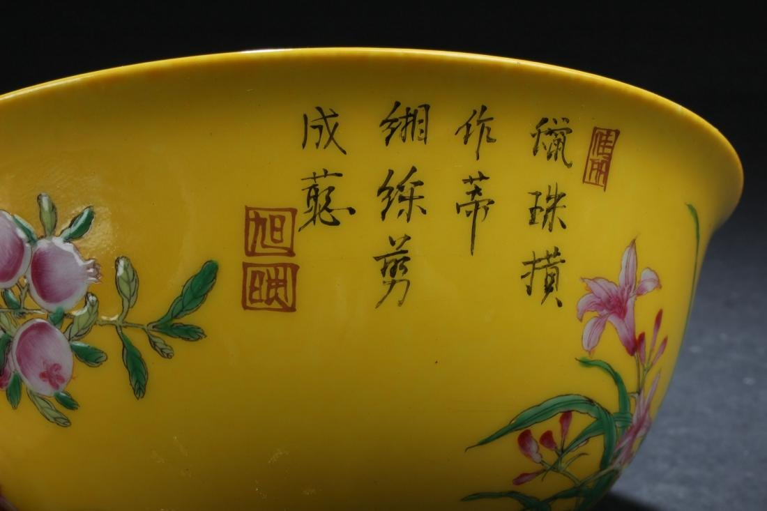 An Estate Chinese Fortune Nature-sceen Porcelain Bowl - 4