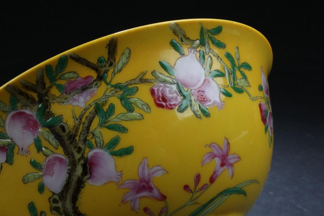 An Estate Chinese Fortune Nature-sceen Porcelain Bowl - 5