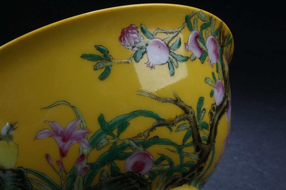 An Estate Chinese Fortune Nature-sceen Porcelain Bowl - 6