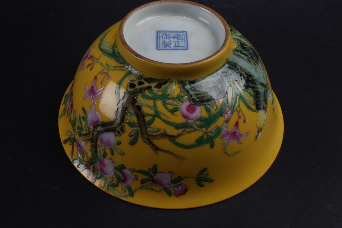 An Estate Chinese Fortune Nature-sceen Porcelain Bowl - 7