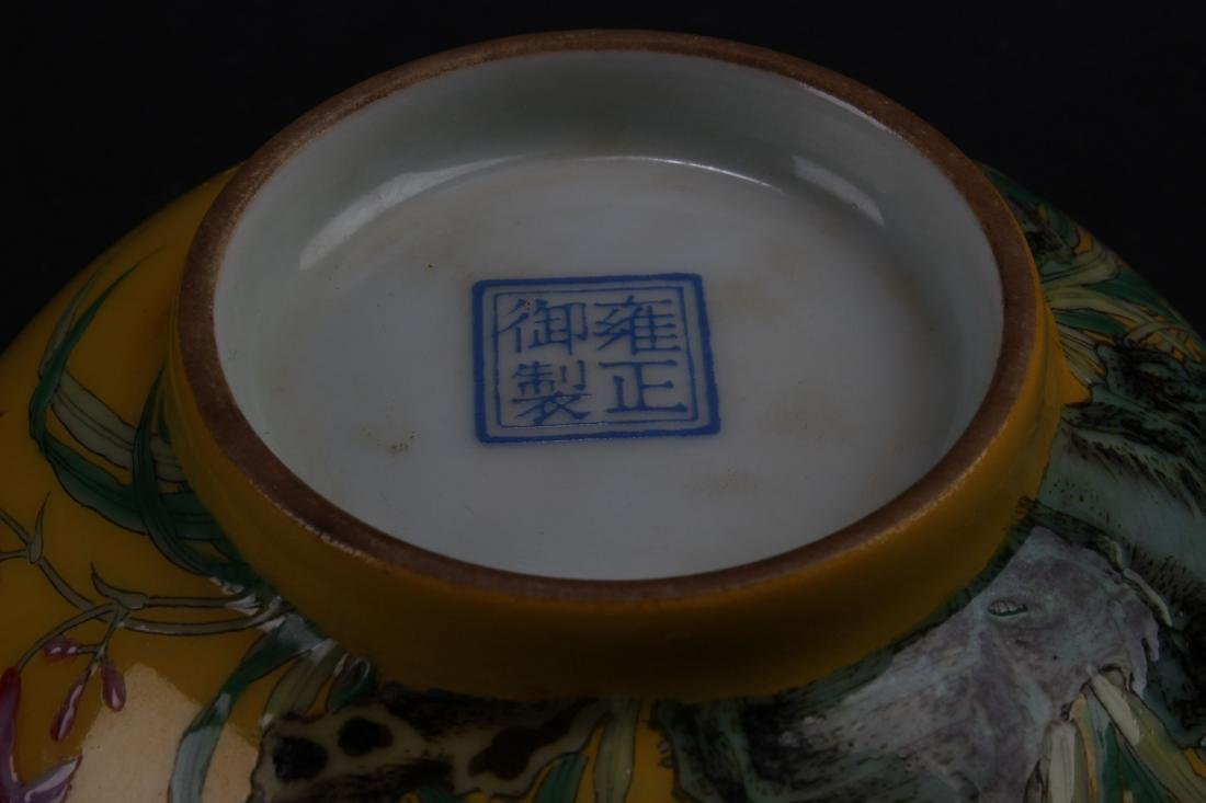 An Estate Chinese Fortune Nature-sceen Porcelain Bowl - 8