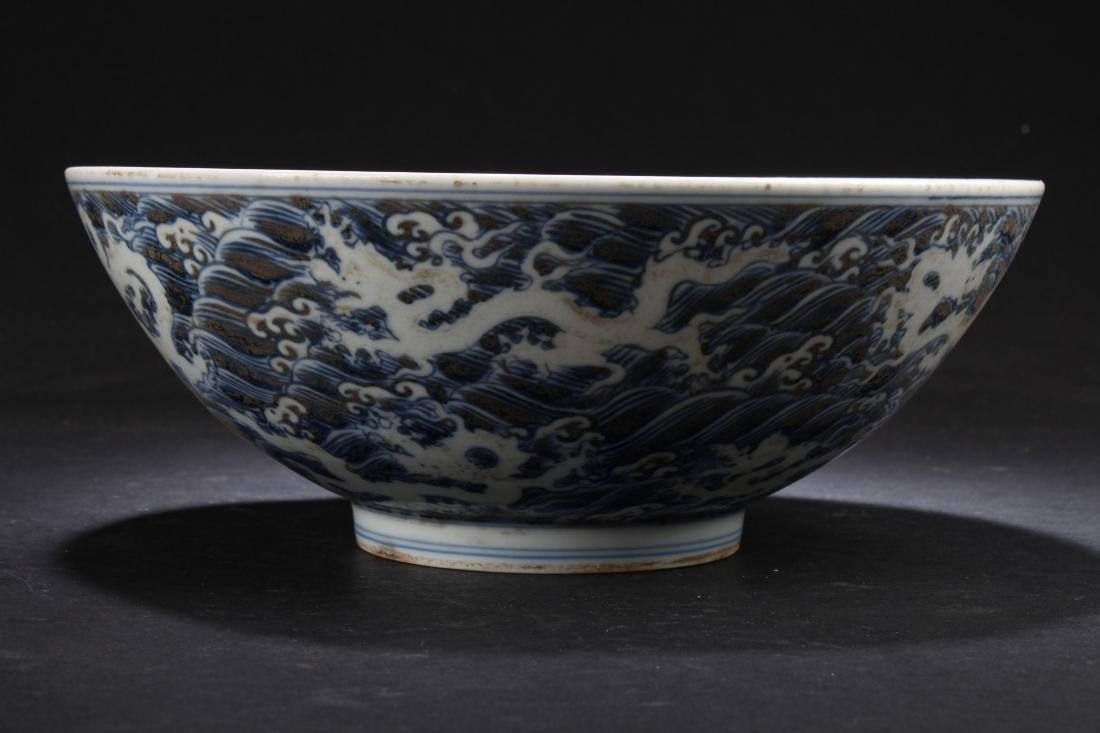 An Aqua-fortune Chinese Estate Blue and White Porcelain - 3