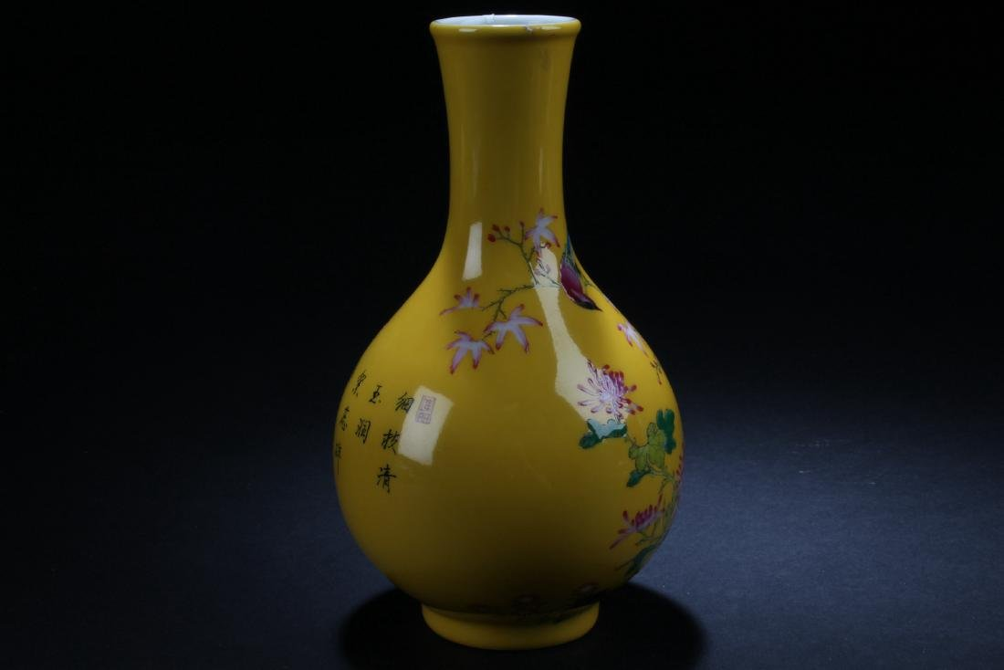 A Chinese Nature-sceen Porcelain Vase Display - 2