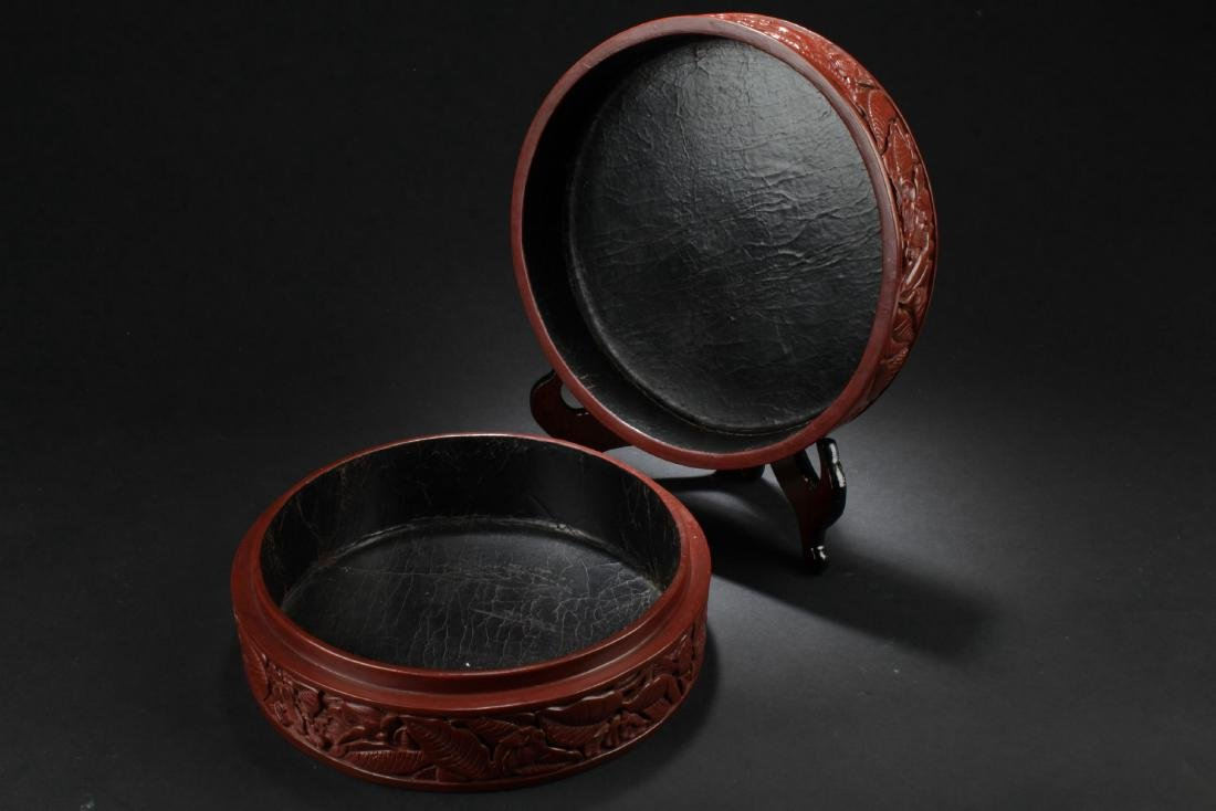 An Estate  Plant-filled Chinese  Lacquer Box - 6