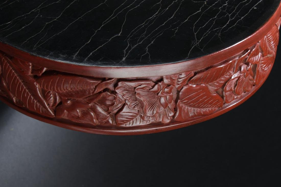 An Estate  Plant-filled Chinese  Lacquer Box - 9