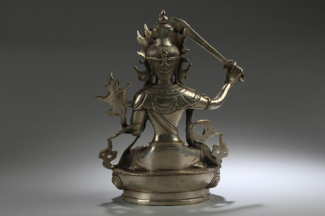 A Sword-posing Chinese Estate Fortune Buddha Statue - 4