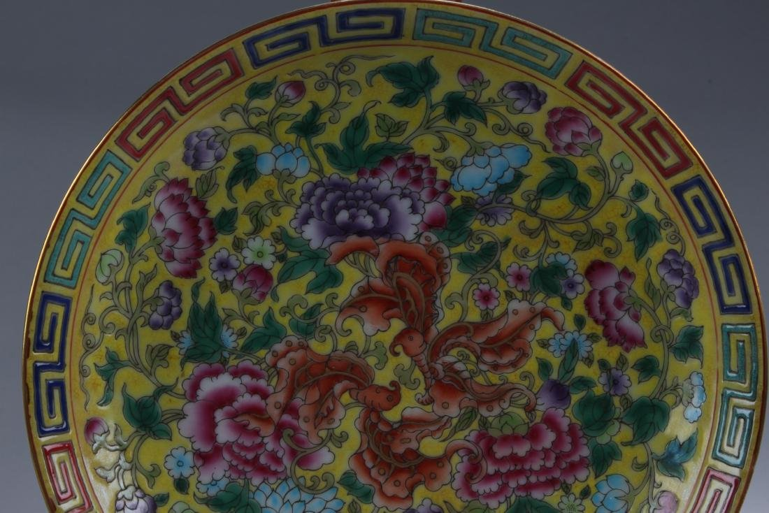 A Chinese Flower-blossom Estate Porcelain Plate Display - 2