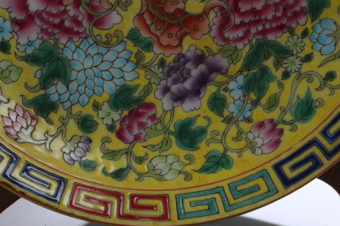 A Chinese Flower-blossom Estate Porcelain Plate Display - 3