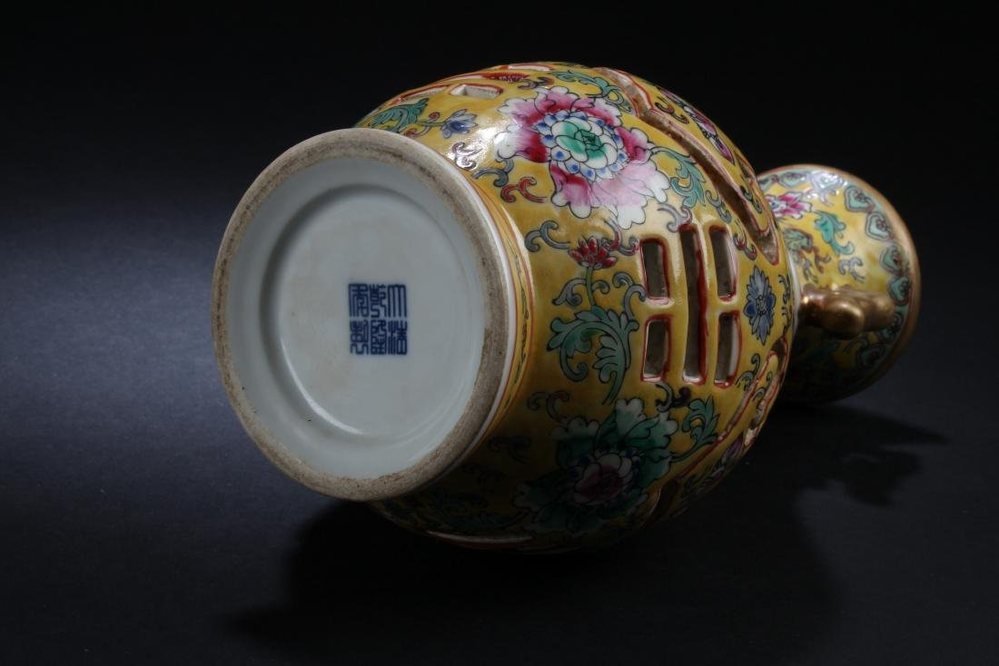 A Chinese Peach-fortune Vase-within Estate Porcelain - 5