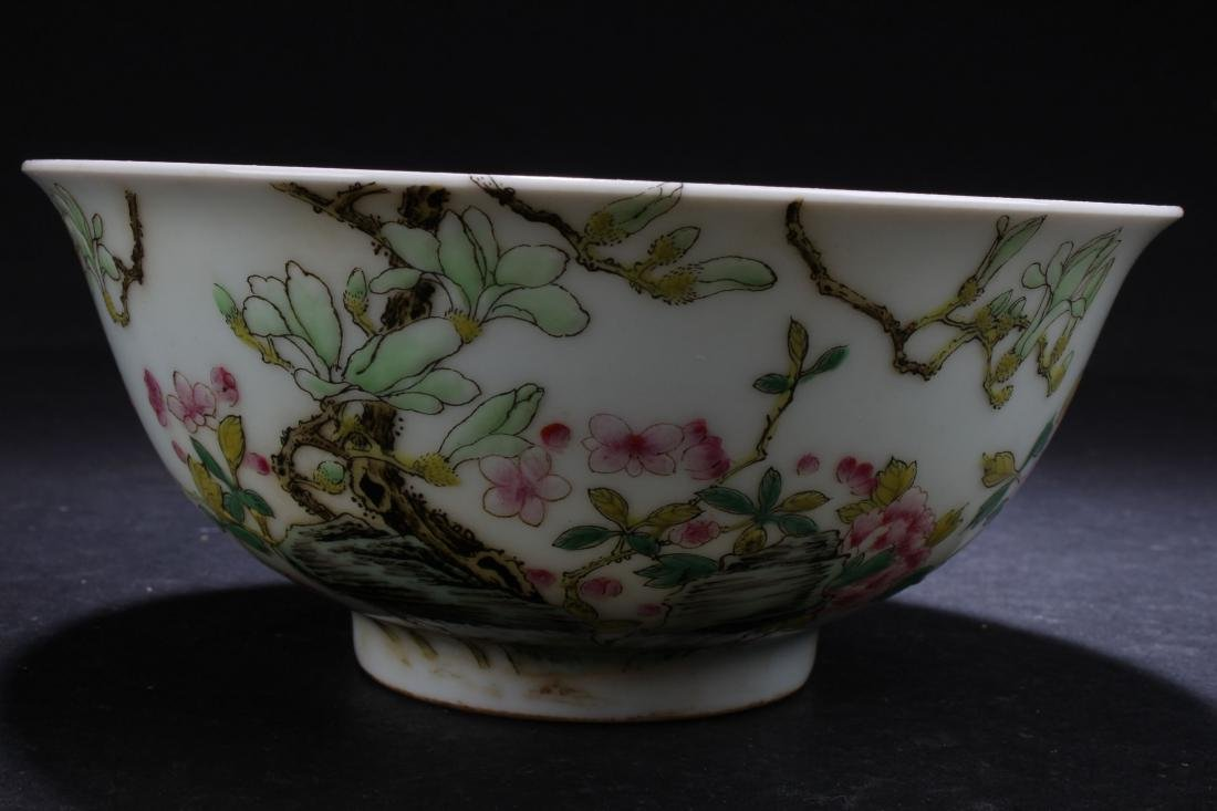 A Chinese Nature-sceen White Porcelain Fortune Bowl