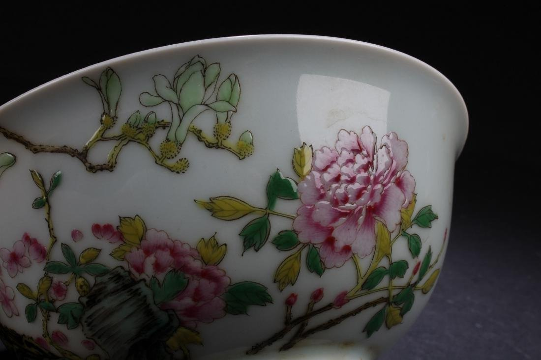 A Chinese Nature-sceen White Porcelain Fortune Bowl - 6