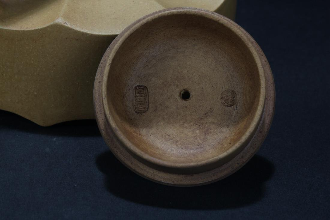 A Bamboo-fortune Chinese Estate Tea Pot Display - 5