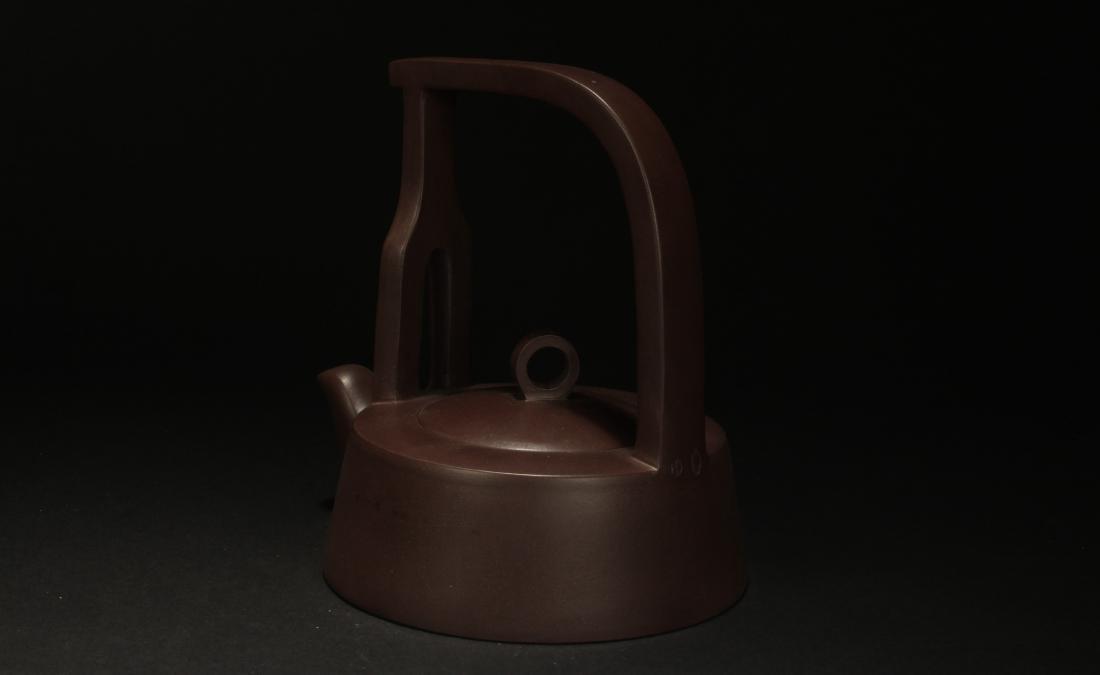 A Chinese High-handled Estate Tea Pot Display - 4