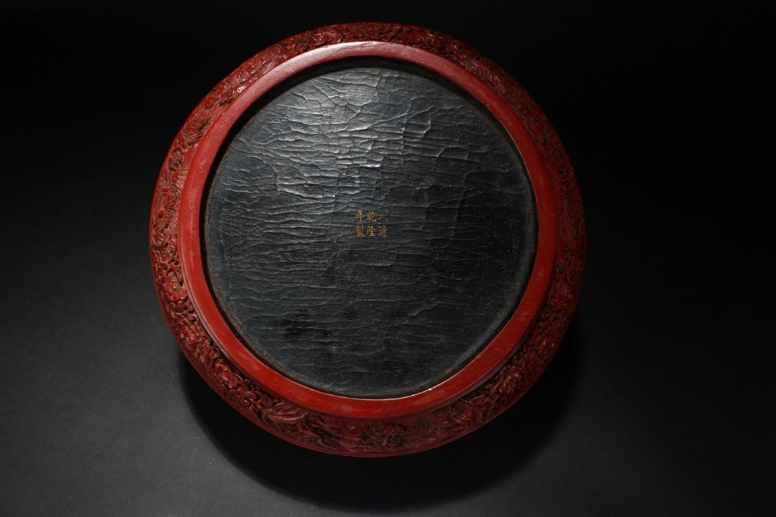 A Chinese Temple-sceen Plant-fortune Lacquer Box - 5