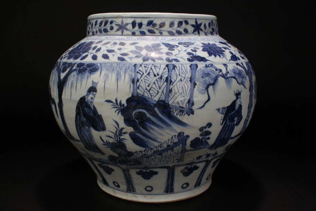 An Estate Chinese Blue and White Battle-field Porcelain - 3