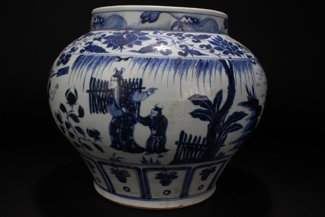 A Chinese Blue and White Story-telling Estate Porcelain - 3