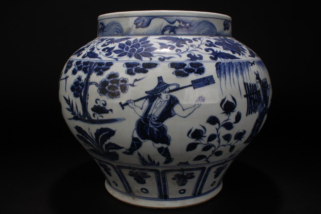 A Chinese Blue and White Story-telling Estate Porcelain - 4