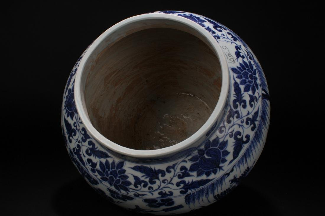 A Chinese Blue and White Story-telling Estate Porcelain - 5