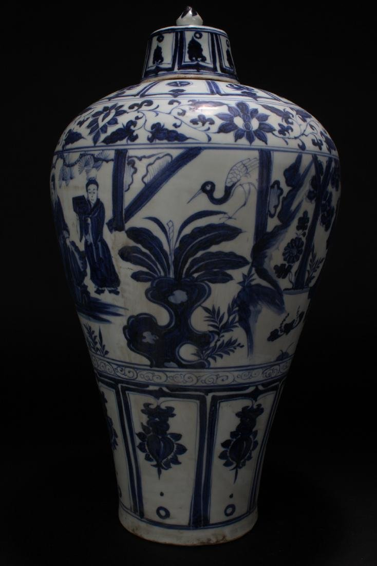 An Estate Chinese Blue and White Story-telling Vase - 2