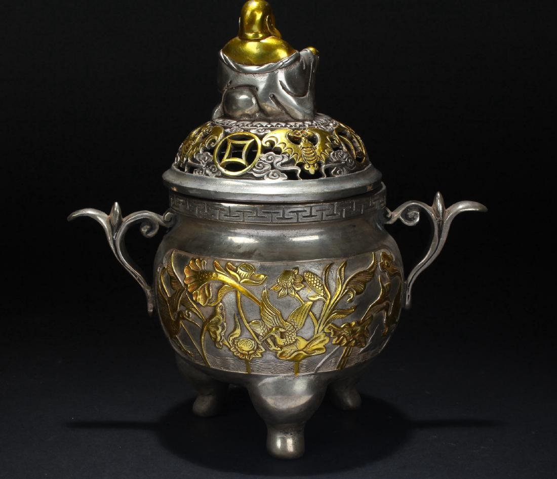 A Chinese Happy-buddha Censer Fortune Display - 3