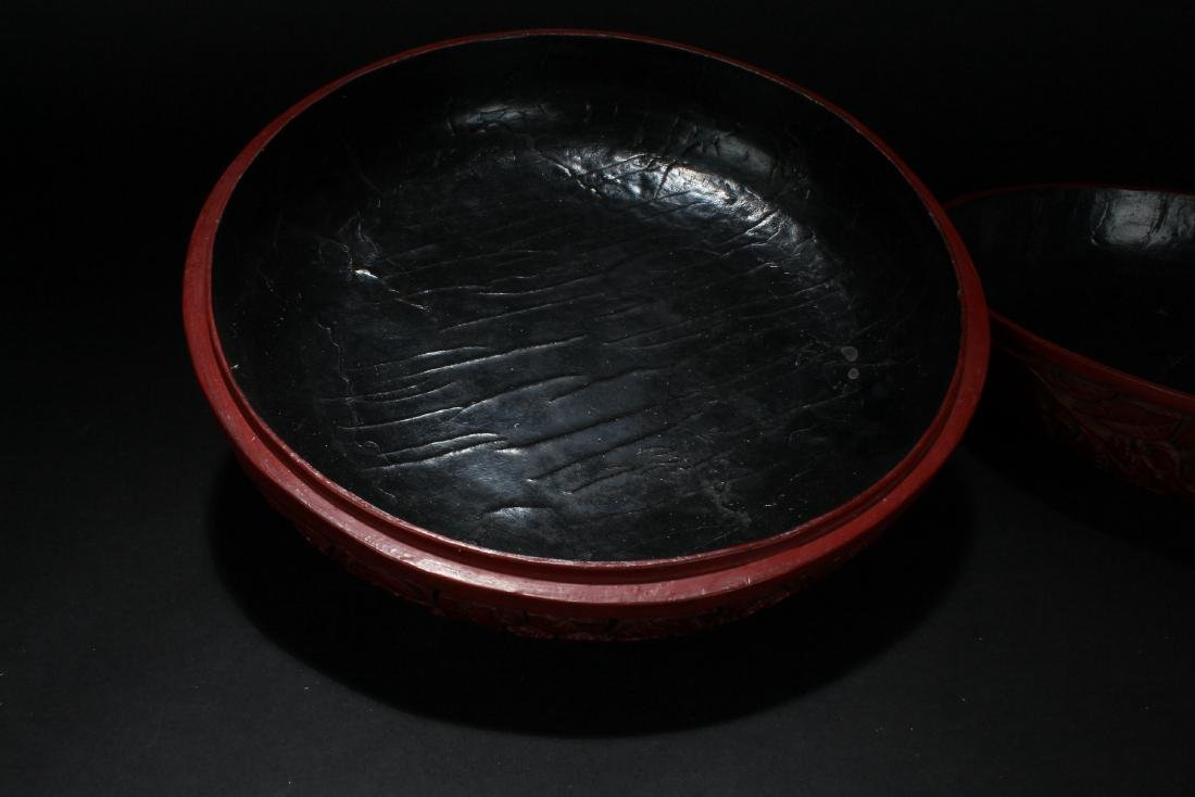 A Chinese Lidded Lacquer Fortune Display Box - 5