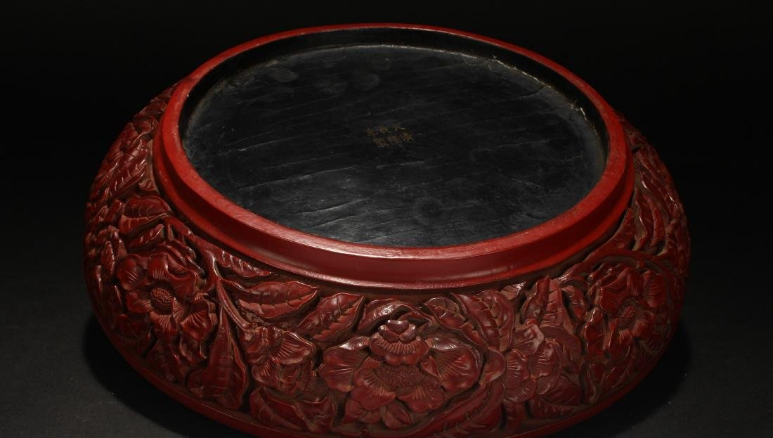 A Chinese Lidded Lacquer Fortune Display Box - 6