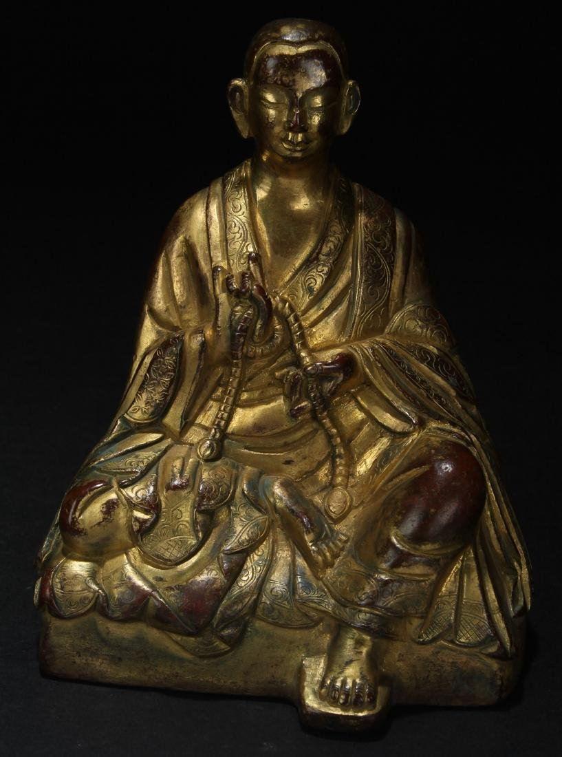 A Chinese Seated Pondering-pose Estate Buddha Statue