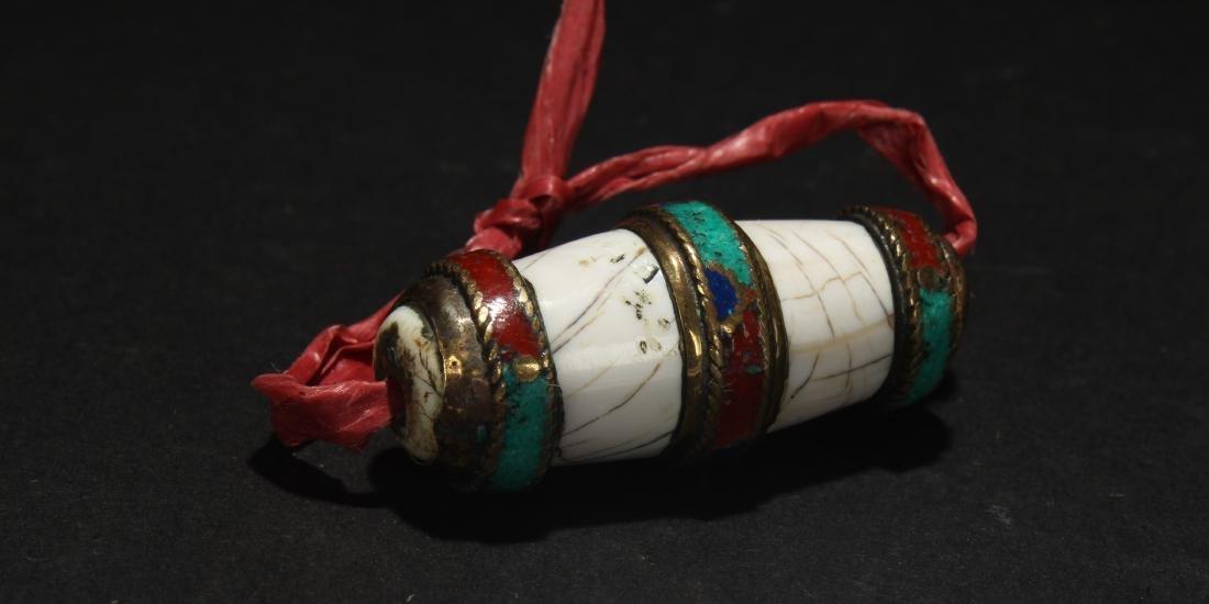 An Estate Tibetan Bead Display