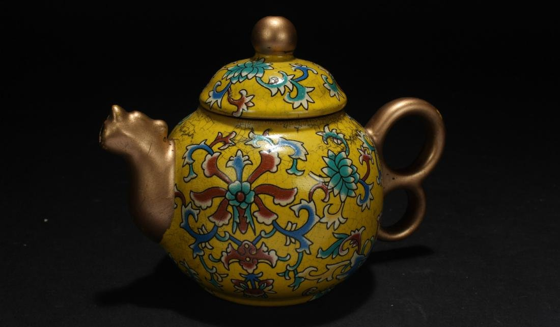 A Chinese Cloisonne Tea Pot