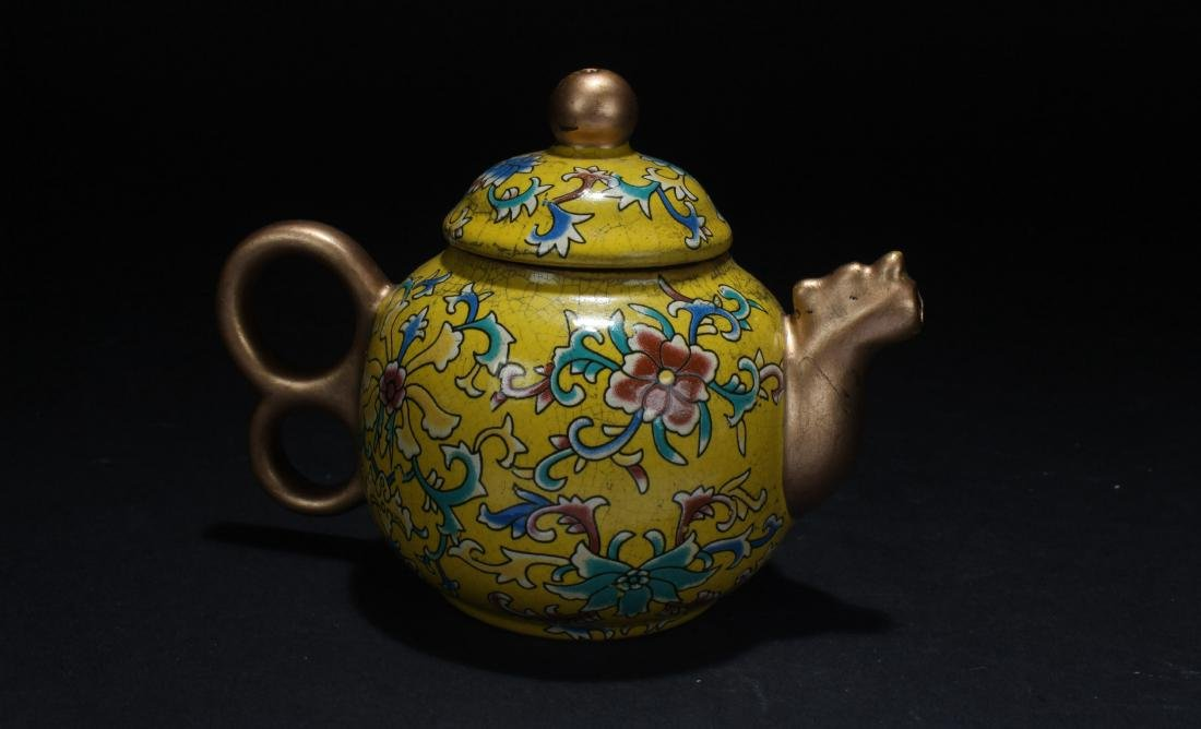 A Chinese Cloisonne Tea Pot - 2