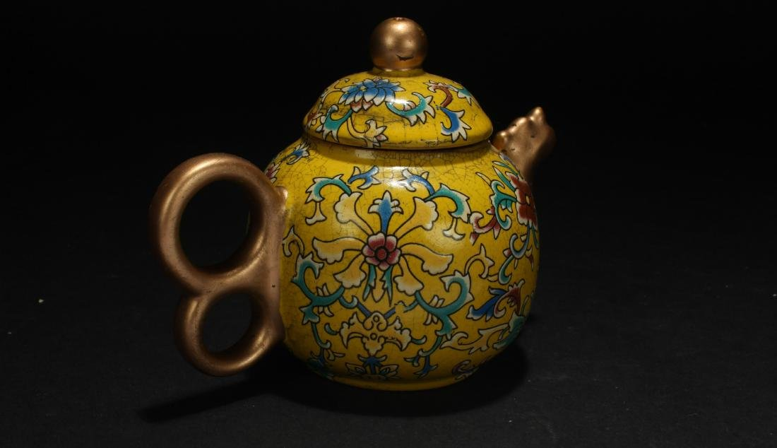 A Chinese Cloisonne Tea Pot - 3
