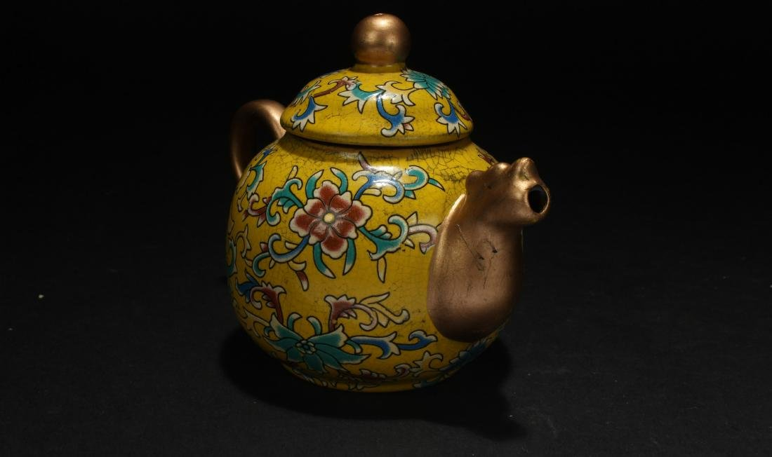 A Chinese Cloisonne Tea Pot - 4