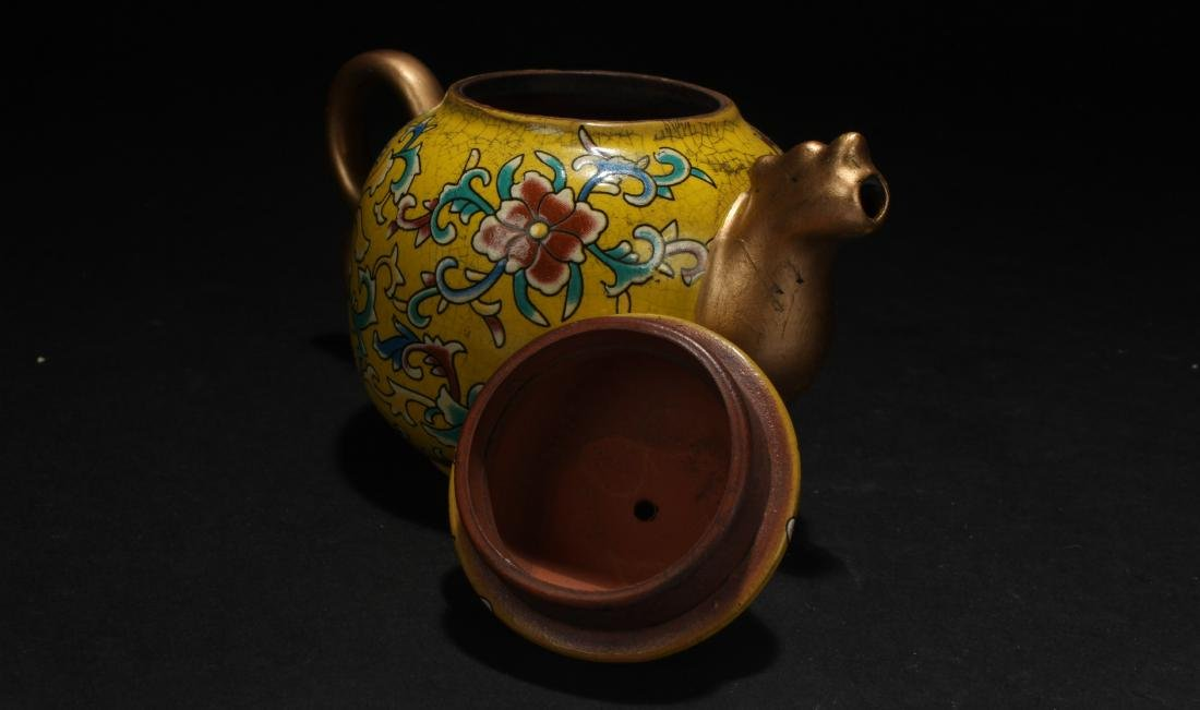 A Chinese Cloisonne Tea Pot - 5