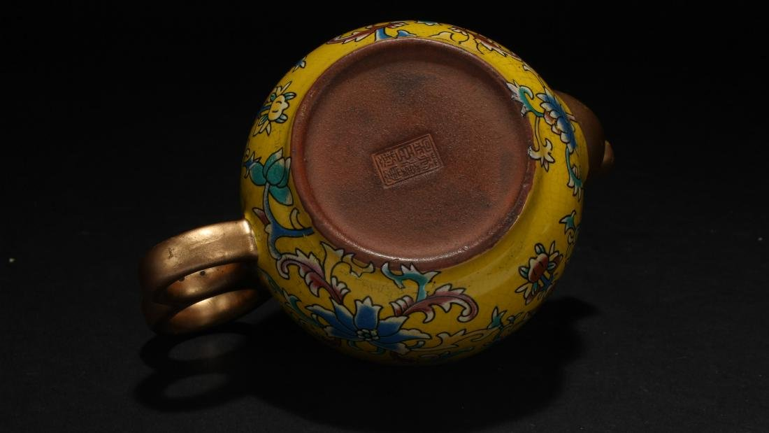A Chinese Cloisonne Tea Pot - 6