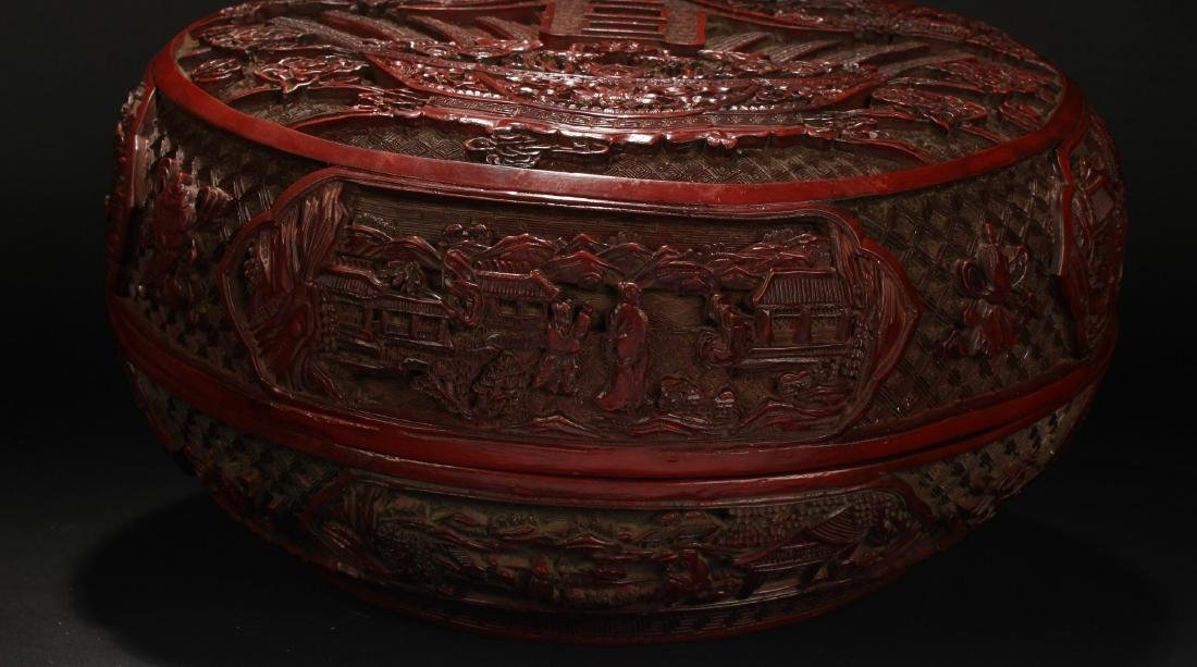 An Estate Spring-fortune Chinese Lacquer Box Display - 2