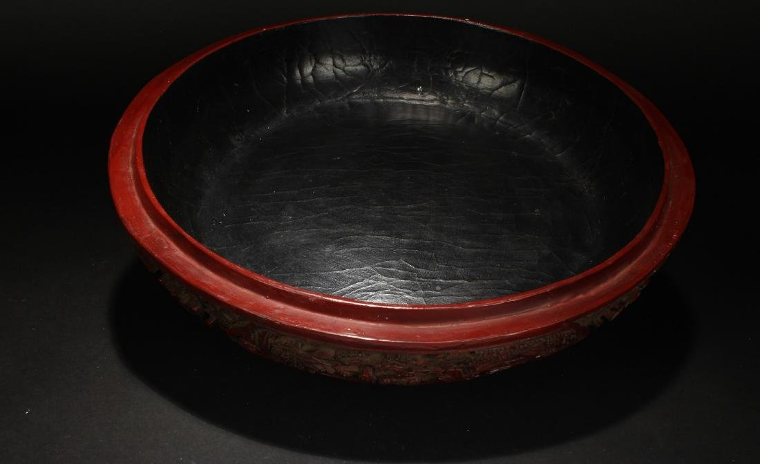 An Estate Spring-fortune Chinese Lacquer Box Display - 4