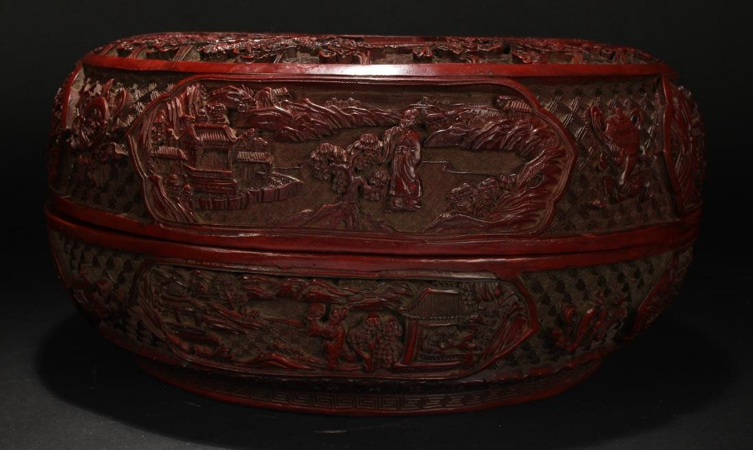 An Estate Spring-fortune Chinese Lacquer Box Display - 8