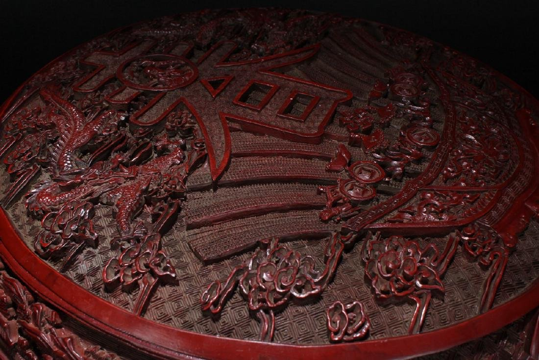 An Estate Spring-fortune Chinese Lacquer Box Display - 9