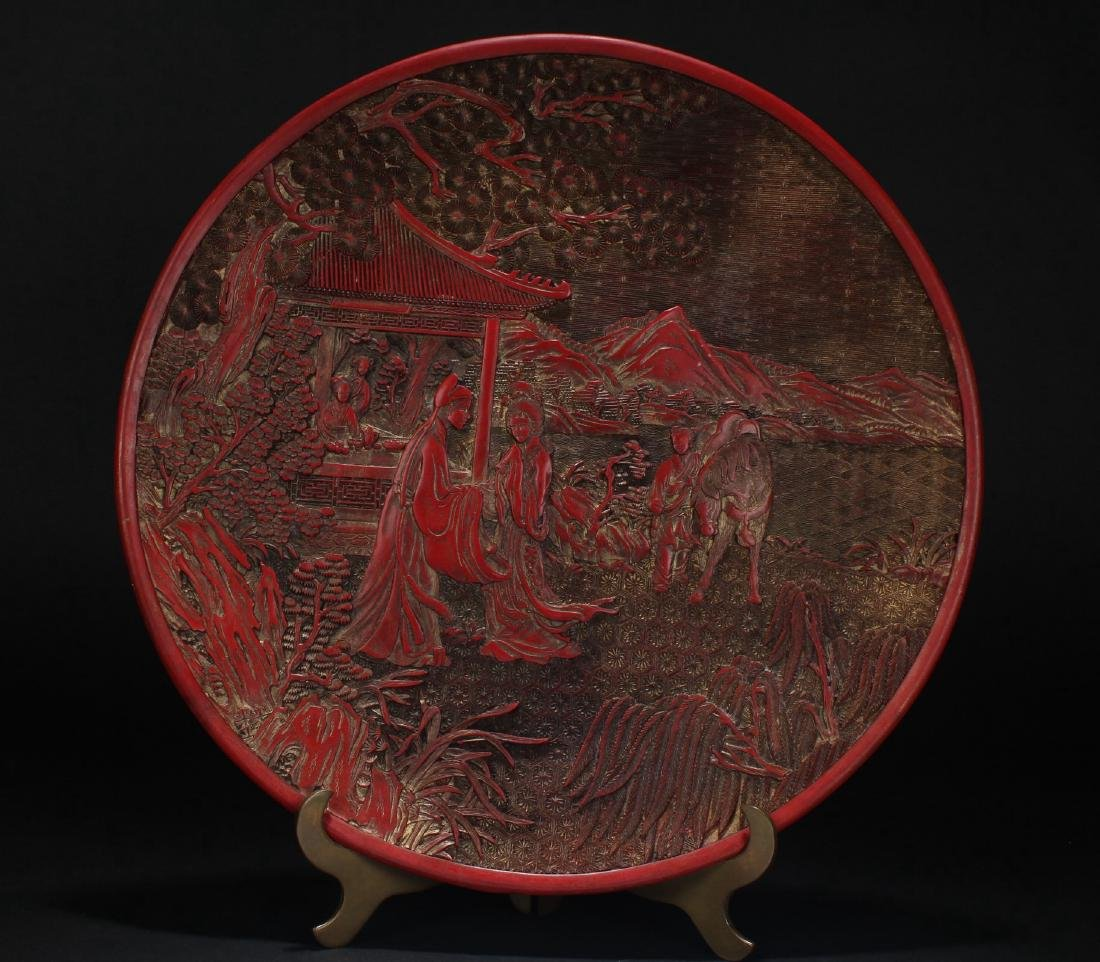 A Chinese Story-telling Display Plate