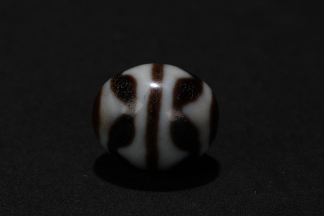 An Estate Round Tibetan Bead - 2