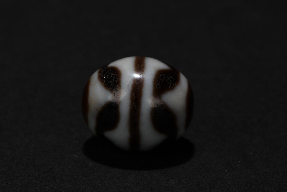 An Estate Round Tibetan Bead - 2